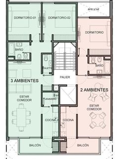 Residential Building Plan, Home Building Design, Home Design Plans, Building Plans, 10 Marla House Plan, My House Plans, Small House Plans, Apartment Layout, Apartment Plans
