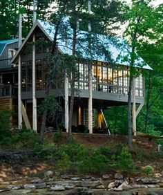 This cabin is the perfect mountain getaway.
