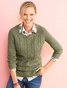 Talbots - Wishbone Cable-Front Sweater | $79/$56 sale (4/25/15)