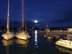 Full moon in Villefranche