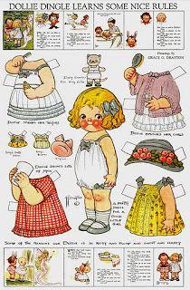 (⑅ ॣ•͈ᴗ•͈ ॣ)                                                            ✄Bonecas de Papel: Dolly Dingle Paper Dolls