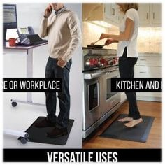 Top 10 Best Anti-Fatigue Mats in 2020 [Buying Guides] Foot Massage, Workplace, Kangaroo, Top, House, Baby Bjorn, Home, Homes, Crop Shirt