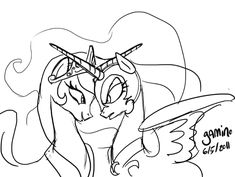 Nightmer Moon Colouring Pages Coloring Home