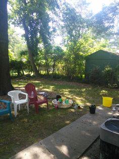 庭で。6/23/2015