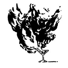 Molotov Cocktail. — tattoo, tattoos, inspiration, woodcut, illustration — Daily Black & White Illustration