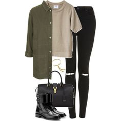 Untitled #4933 by eleanorsclosettt on Polyvore featuring Topshop, Yves Saint Laurent and Monica Vinader