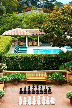 The cascading grounds include three distinct terraces, a relaxing pool area and gardens. #Jetsetter La Playa Carmel (Carmel by the Sea, California)