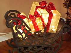 DIY lighted gift boxes. So cute I'm going to be making several of these.
