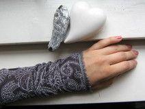 Stulpen Armstulpen aus Stretchsamt