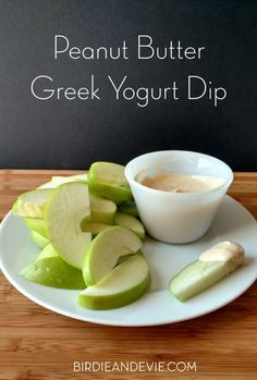 Peanut Butter Greek Yogurt Dip | Only 2 weight watchers smart points