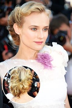 Diane Kruger    Kruger's loosely rolled locks aren't just a Cannes 'do—they're a should do! Classically beautiful from the front, the hairstyle is deconstructed and modern in the back.