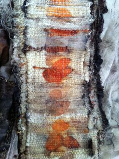 India Flint - weaving a path. Natural colours, lots of texture, has a structure to the design.