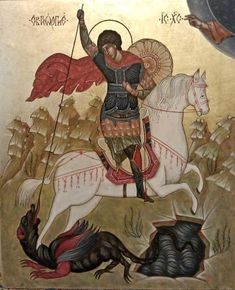 Religious Paintings, Religious Art, Saint George And The Dragon, Illustrators, Saints, Religion, Angels, Blessed, Image
