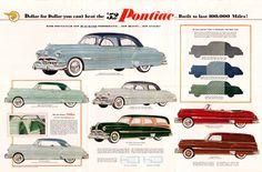 Pontiac 1952. [Source- http://www.oldcarbrochures.com]