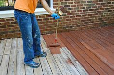How To Stain And Seal A Deck. Won't be a first priority, but we'd like to down the road! Young House Love, New Deck, Back Deck, Outdoor Projects, Home Projects, Second Story Deck, Deck Furniture, Reno, Deck Design
