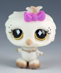 Littlest Pet Shop Owl No Number White With Yellow and Brown Eyes - Blemished #Hasbro