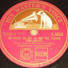 COMEDIAN HARMONISTS  Du passt so gut zu mir wie Zucke zum Kaffee  1936 HMV 78rpm