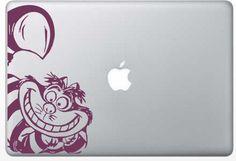 Custom order vinyl Cheshire Cat design for laptop or ipad Macbook Air 13 Case, Macbook Skin, Laptop Skin, Laptop Stickers, Cute Stickers, Bumper Stickers, Disney Designs, Disney Ideas, Laptop Cooling Pad