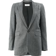 Saint Laurent single breasted jacket (€2.460) ❤ liked on Polyvore featuring outerwear, jackets, black, smoking jacket, yves saint laurent jacket, yves saint laurent, tailored jacket and single breasted jacket