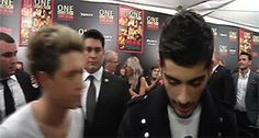 (GIF) this is such a normal occurrence that Zayn just keeps talking like Niall isn't even there.