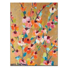 Golden Blooms by Anna Blatman Painting Print on Canvas