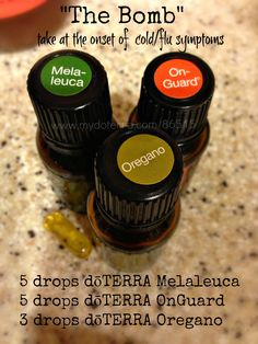 "doTERRA ""Flu Bomb"". These work awesome! I used it to rid my self of an upper respiratory infection"