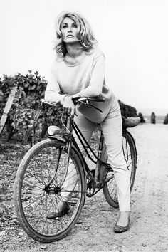 Sharon Tate in France for the filming of Eye of the Devil (1966)