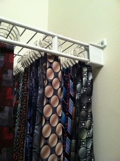 My favorite idea for hanging ties. #tiesorganization