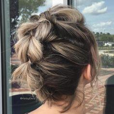 Braids For Short Hair, Cute Hairstyles For Short Hair, Box Braids Hairstyles, Curly Hair Styles, Short Haircuts, Short Hair Braid Styles, Pretty Hairstyles, Short Braided Hairstyles, Style Short Hair