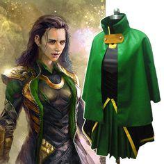 Marvel Loki Clothing | Cosplaydiy The Avengers :Movie Thor Character Loki Cosplay Costume For ...