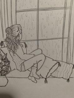 Art Inspiration – Art World 20 Sad Drawings, Girl Drawing Sketches, Girly Drawings, Art Drawings Sketches Simple, Pencil Art Drawings, Sketch Art, Easy Sketches To Draw, Sad Girl Drawing, Pencil Sketches Easy