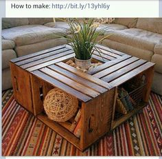 Wooden box coffee table