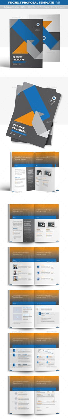 Project Proposal Design Template - V5 - Proposals & Invoices Stationery Template InDesign INDD. Download here: https://graphicriver.net/item/project-proposal-template-v5/16947845?s_rank=149&ref=yinkira