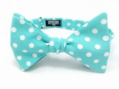 Hey, I found this really awesome Etsy listing at https://www.etsy.com/listing/192470616/robins-egg-blue-polka-dot-bow-tie-bowtie