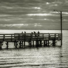 ~Pier Light~ By Ernie Kasper #whiterock   #pier   #sunlight   #rays   #ocean   #canada   #candid   #people   #dock