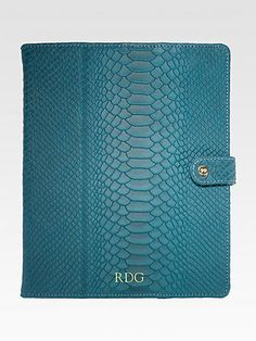Monogram it - Tablets and iPads are all the rage right now. Give the perfect cover to protect it with your recipients initials monogrammed right on it!