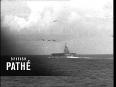 HMS Victorious at sea 1941, raw actual vintage footage during WWII. (YouTube)