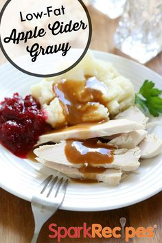 Apple Cider Gravy. Our favorite #gravy #recipe, hands down!| via @SparkPeople #holidays #Thanksgiving #Christmas