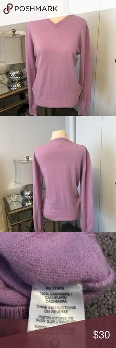 Michael Kors 100% cashmere sweater Beautiful lavender cashmere v-neck sweater. It's incredibly soft and pretty. EUC MICHAEL Michael Kors Sweaters V-Necks