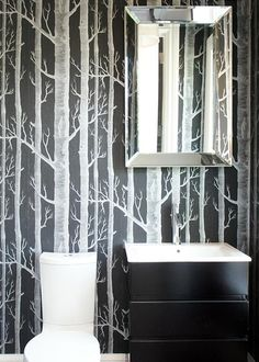 I am seriously obsessing over almost every tree wallpaper I see! I'm not sure where I'll want it in my house in the future but I love it!
