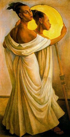 'Portrait of Ruth Rivera' (1949) by her father, Mexican painter Diego Rivera (1886-1957). via all-art