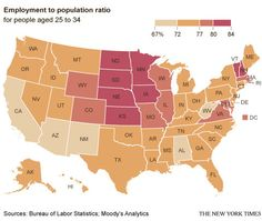 Where the Jobs for the Young Are and Arent - NYTimes.com