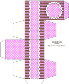 free printable boxes patterns | Standard Gift Boxes - basic boxes that are easy to put together.