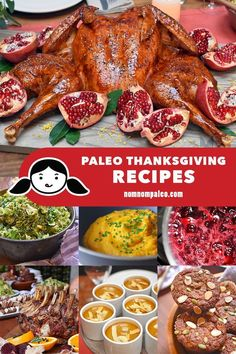 Here's a round-up of my favorite Paleo Thanksgiving Recipes! No matter if you have a big party or an intimate get-together, you'll find lots of options! No Carb Recipes, Primal Recipes, Shake Recipes, Dairy Free Recipes, Gluten Free, Flour Recipes, Healthy Recipes, Paleo Whole 30, Whole 30 Recipes