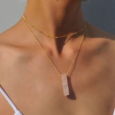 Get your own beautiful natural quartz necklace. For less than 20$.