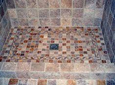 mosaico su piatto doccia classico  Bathroom  Pinterest
