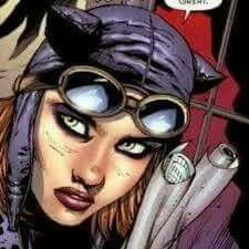 """Kitrina Falcone is the niece of Mario Falcone. Mario abused Kitrina mentally and physically due to her uniqueness. """"Kittyhawk"""" became Catgirl, Catwoman's sidekick, after befriending Selina Kyle. Catgirl, Catwoman, Comic Art, Dc Comics, Vines, Halloween Face Makeup, Cats, Movie Posters, Fictional Characters"""