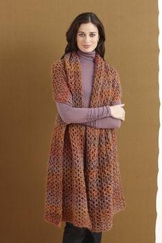 DIY Arrow Lake Shawl from lionbrand: Free crochet pattern. #Shawl #lionbrand #crochet by estelle