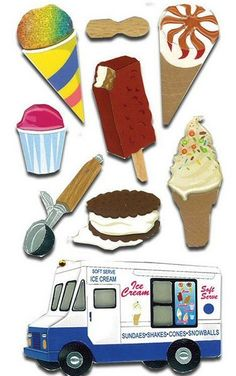 Desserts > Ice Cream 3D Stickers - Jolee's Boutique: Stickers Galore  $5.49