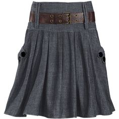 Belted Dolce Skirt - New Age, Spiritual Gifts, Yoga, Wicca, Gothic, Reiki, Celtic, Crystal, Tarot at Pyramid Collection ($60) found on Polyvore